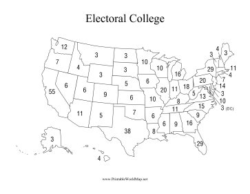 Refreshing image intended for printable electoral college map for kids