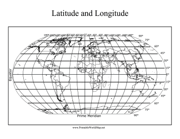 Handy image with regard to world map with latitude and longitude printable