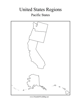 pacific states map the states that touch the pacific ocean are ...