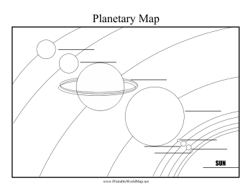 orbit solar system worksheet blank - photo #15
