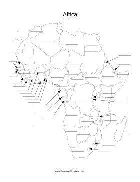 Fill In Map Of Africa 14