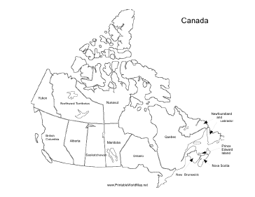 Exceptional image within printable maps of canada