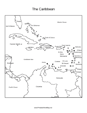 Terrible image within printable map of caribbean islands