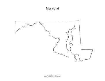 Adorable image in printable map of maryland