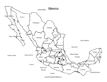 Zany image throughout printable maps of mexico