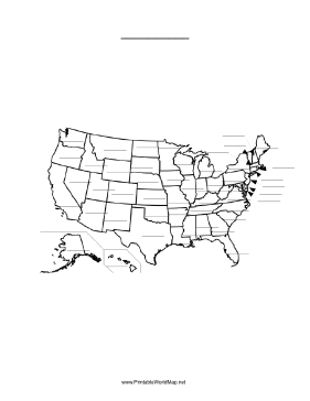 Fillable Map - Us map fill in online