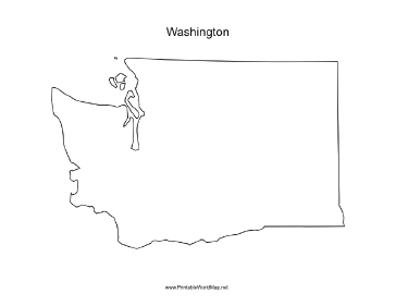 washington blank map a blank map of the state of washington oriented ...
